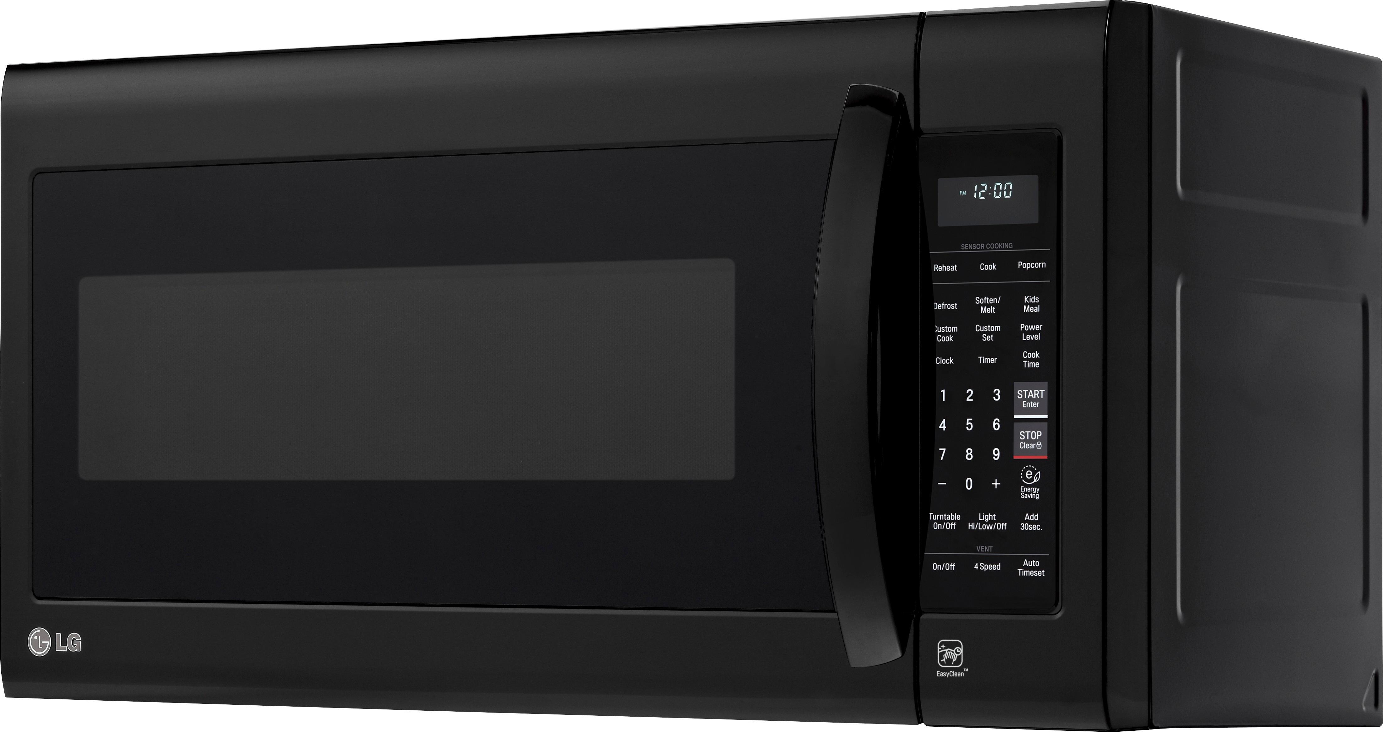 lg 2 0 cu ft over the range microwave smooth black