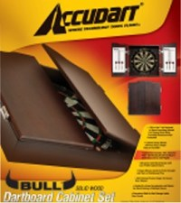 Accudart Bull Dartboard Cabinet and Set D4214