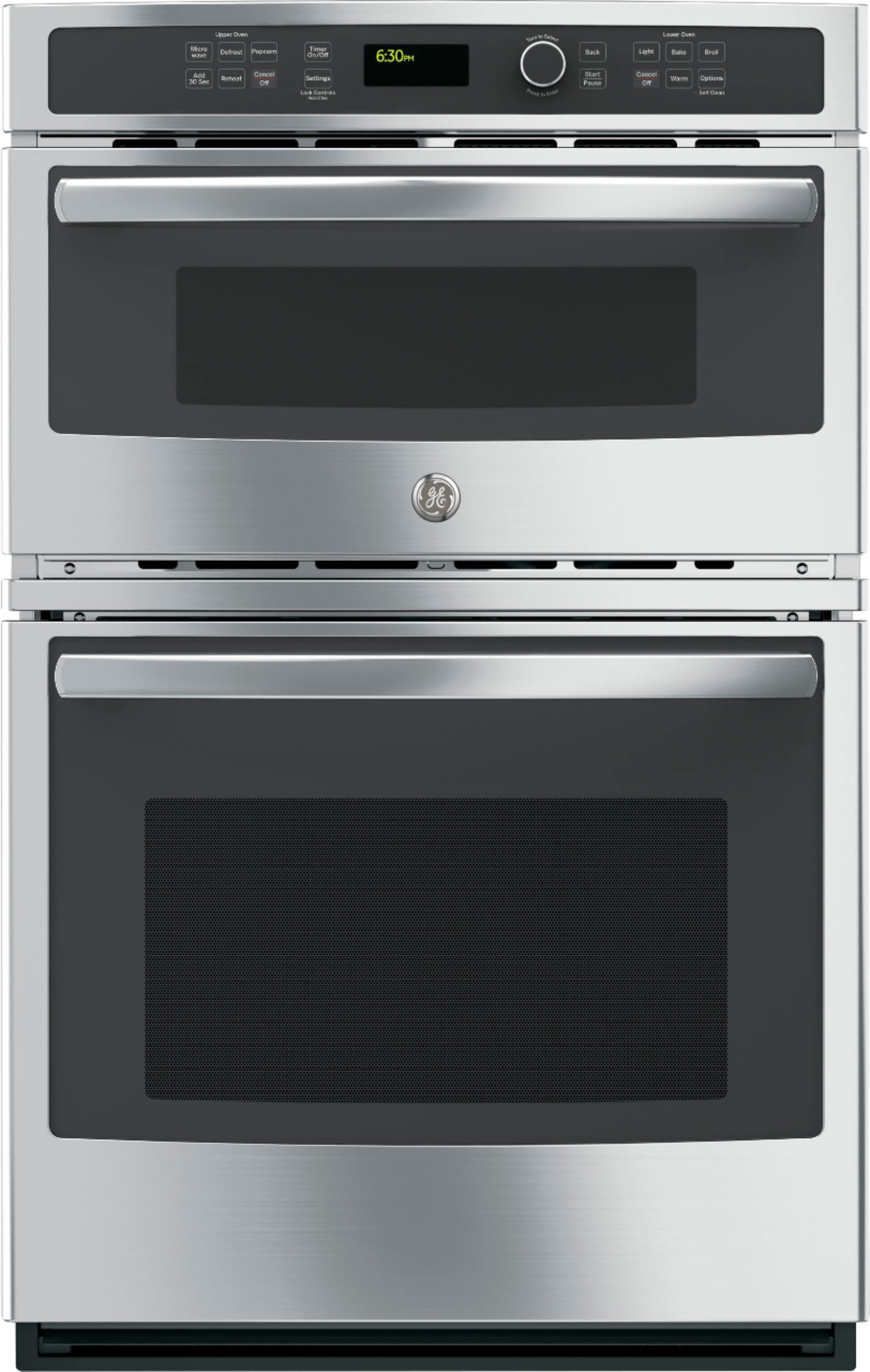 ge 27 single electric wall oven with built in microwave stainless steel