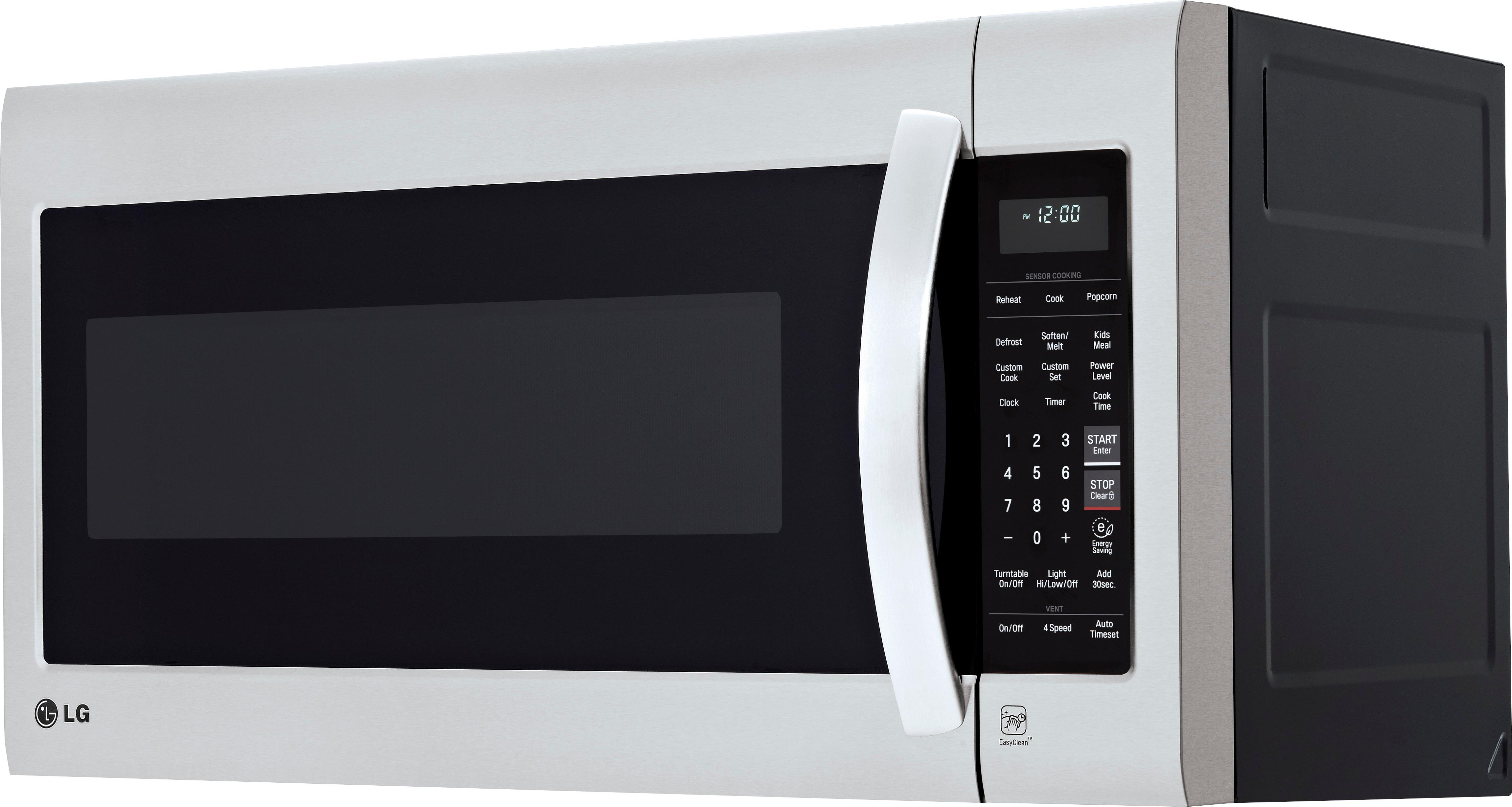 lg 2 0 cu ft over the range microwave stainless steel