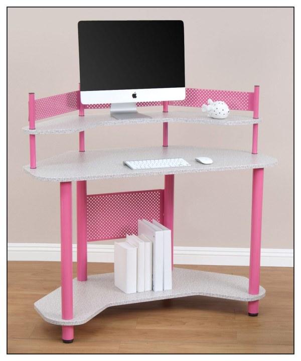 Calico Design Corner Computer Desk Pink 55122