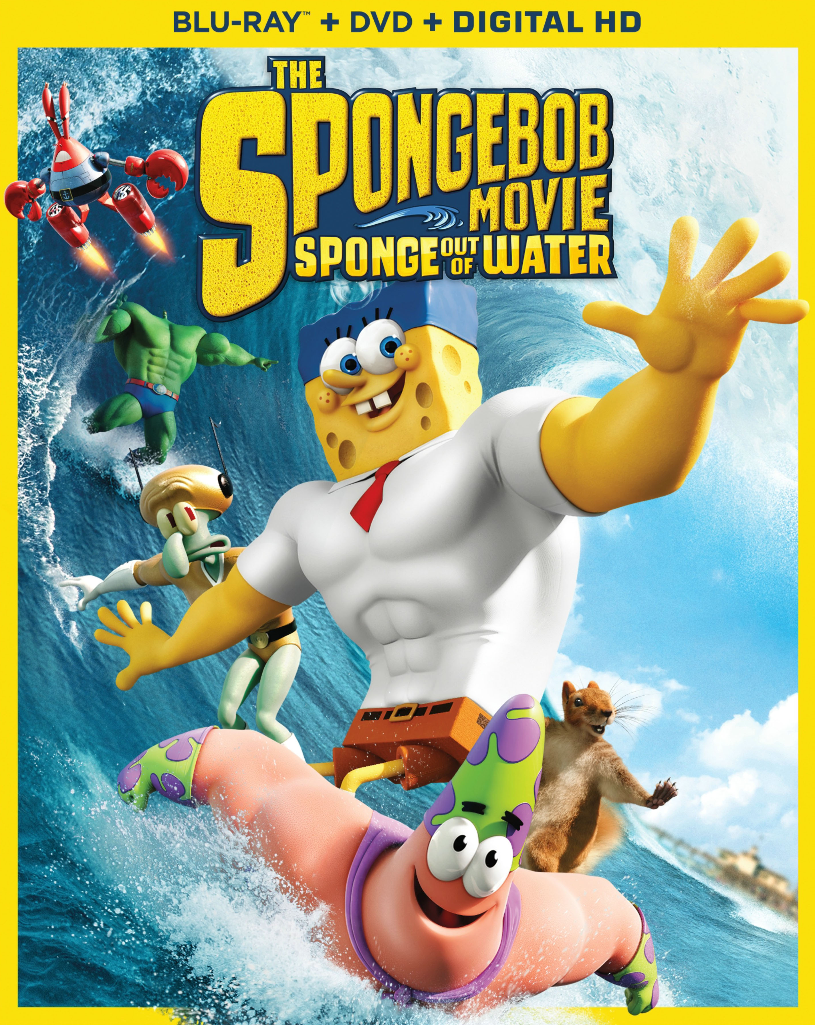 When Does The Spongebob Movie Come Out In Dvd : spongebob, movie, SpongeBob, Movie:, Sponge, Water, Discs], [Includes, Digital, Copy], [Blu-ray/DVD], [2015]