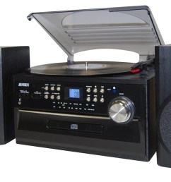 jensen 4w cd stereo system with cassette turntable and am fm radio black jta 475b best buy [ 1500 x 856 Pixel ]