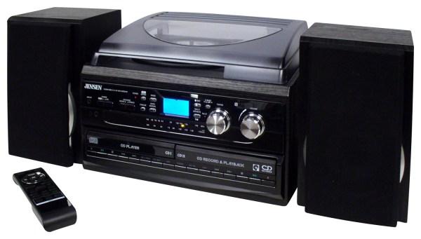 Jensen 4w 2cd Stereo System With Cd Recorder Black Jta-980b