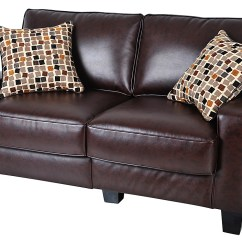 Serta Bonded Leather Convertible Sofa Sofas On Sale Rta Monaco Collection 61 Loveseat Brown Cr43532 Best Buy