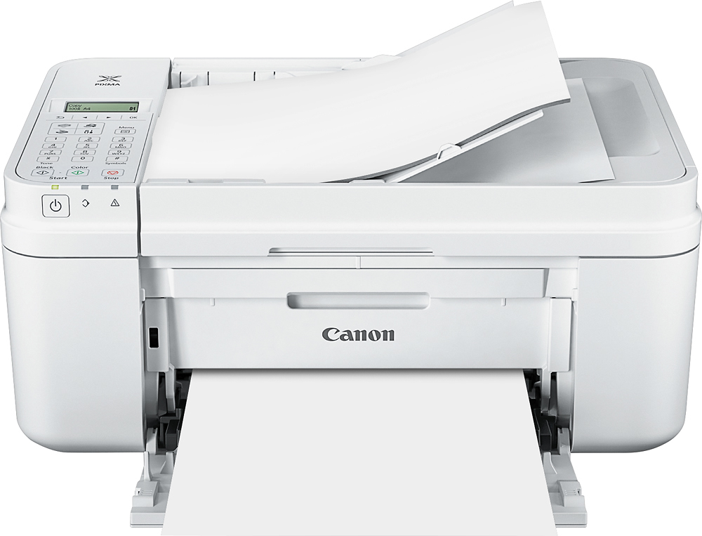 Canon - PIXMA MX492 Wireless All-In-One Printer - White - Front Zoom