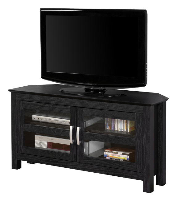 Walker Edison Corner TV Stand for Flat-Panel TVs Up to 48