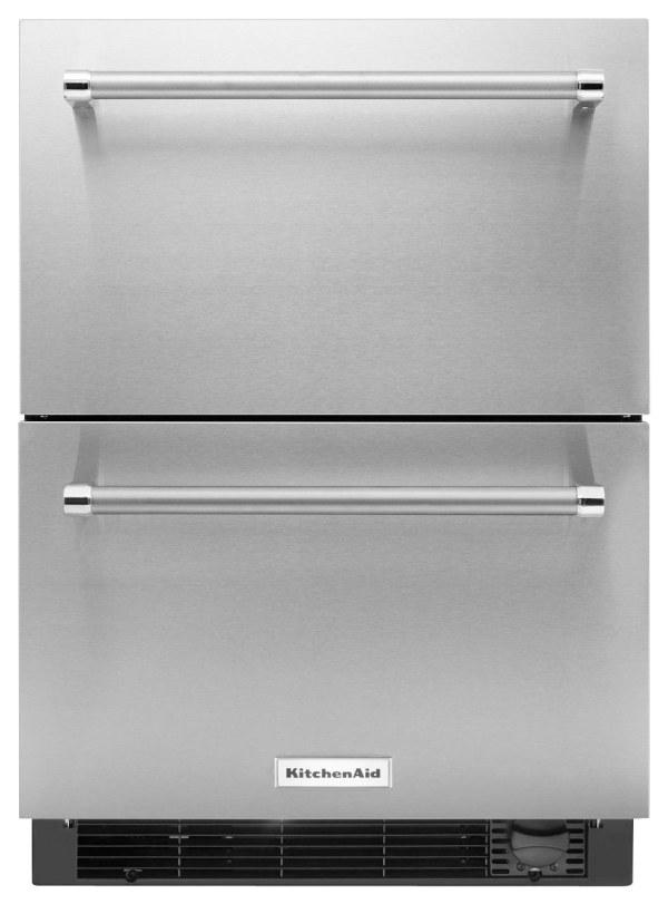 Kitchenaid 4.7 Cu. Ft. Double-drawer Refrigerator Silver Kudf204esb