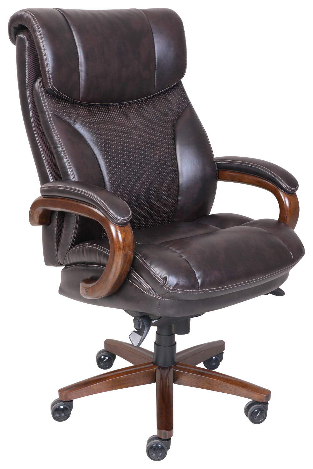 la z boy martin big and tall executive office chair brown ikea covers dubai air bonded leather 45782 vino