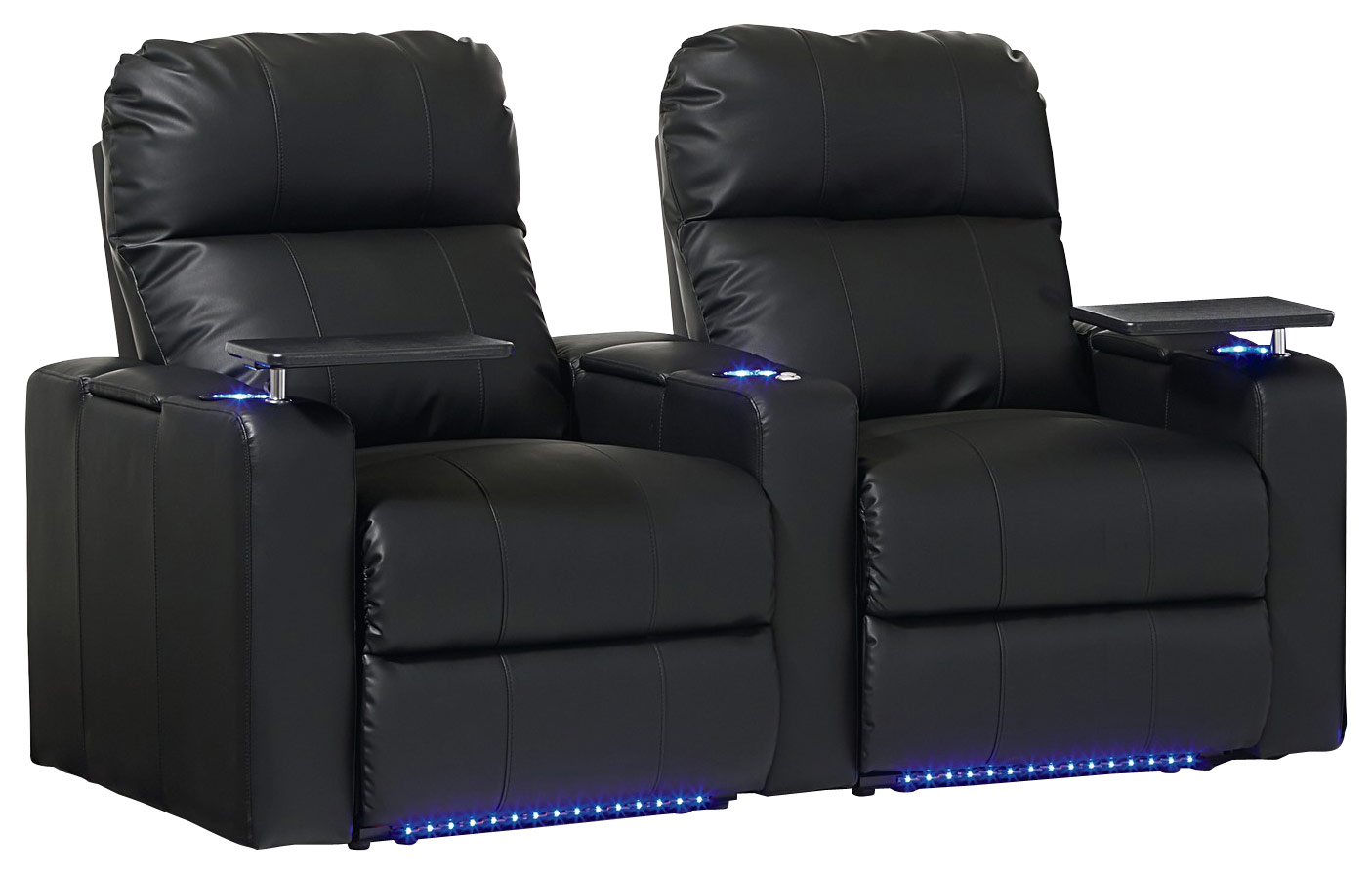 2 seat theater chairs santa chair covers dollar tree octane seating turbo xl700 straight power recline