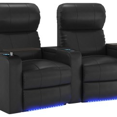 2 Seat Theater Chairs Barbershop For Sale Octane Seating Turbo Xl700 Curved Power Recline