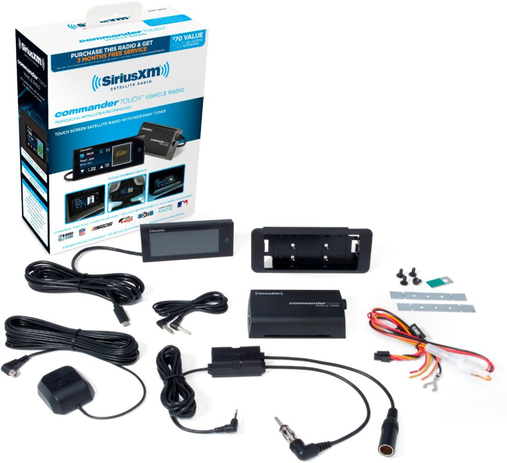 medium resolution of siriusxm commander touch satellite radio receiver black sxvct1 best buy