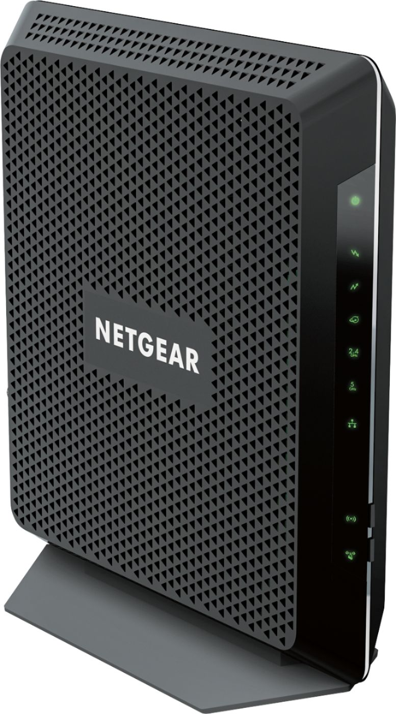 medium resolution of netgear nighthawk dual band ac1900 router with 24 x 8 docsis 3 0 cable modem black c7000 100nas best buy