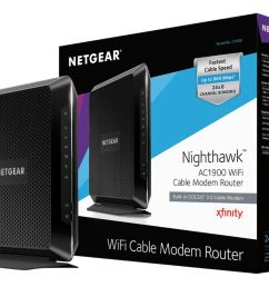 netgear nighthawk dual band ac1900 router with 24 x 8 docsis 3 0 cable modem black c7000 100nas best buy [ 1650 x 1289 Pixel ]