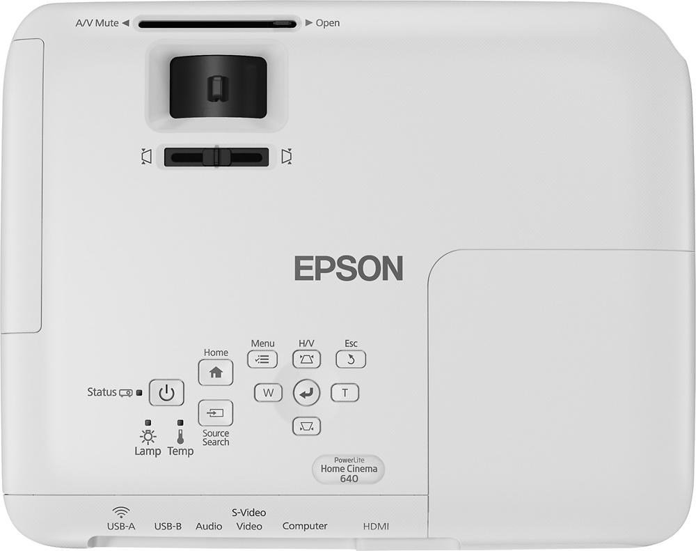 Epson PowerLite Home Cinema 640 SVGA 3LCD Projector White