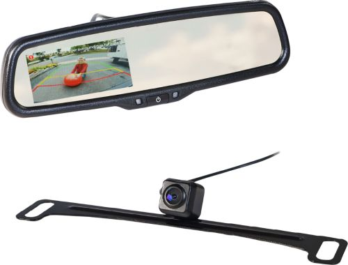 small resolution of echomaster rear view mirror back up camera kit black mrc lp01cp best buy
