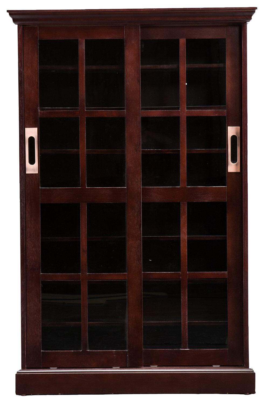 SEI Sliding Door Media Cabinet Espresso MS1071T Best Buy