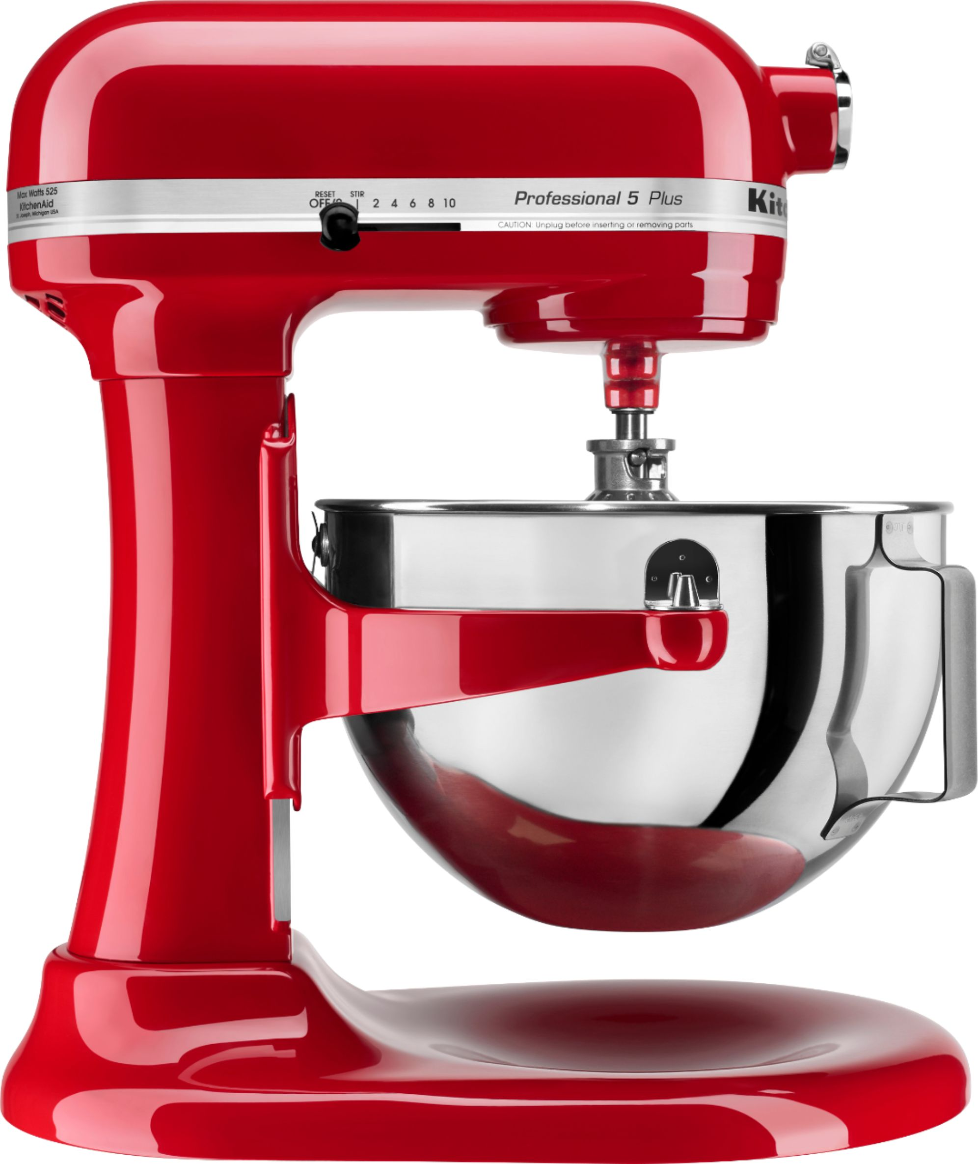 kitchenaid kv25g0xer professional 500 series stand mixer empire red angle zoom