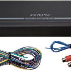 alpine power pack 180w class d bridgeable multichannel amplifier with high pass filter black ktp 445u best buy [ 1392 x 743 Pixel ]
