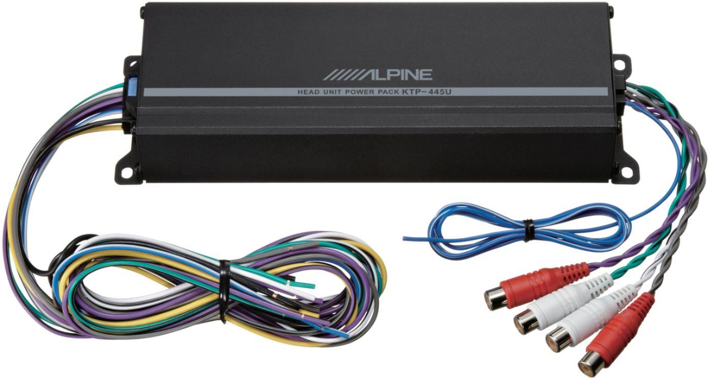 hight resolution of alpine power pack 180w class d bridgeable multichannel amplifier with high pass filter black ktp 445u best buy