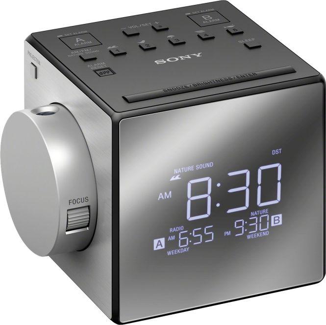 Sony Am Fm Dual Alarm Clock Radio Black