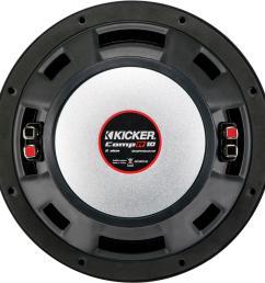 kicker compr 10 dual voice coil 2 ohm subwoofer black 43cwr102 best buy [ 1534 x 1537 Pixel ]