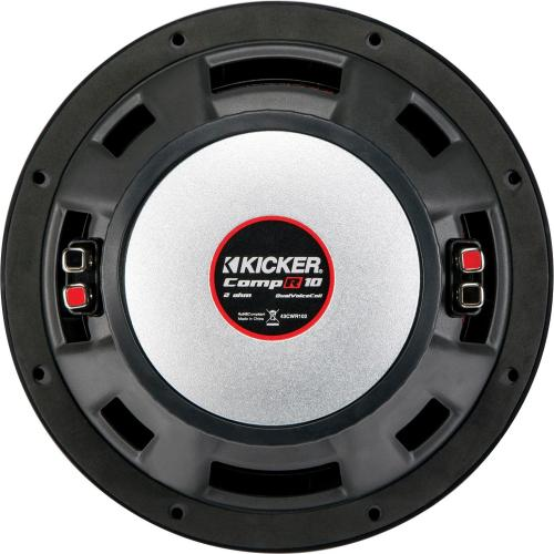 small resolution of kicker compr 10 dual voice coil 2 ohm subwoofer black 43cwr102 best buy