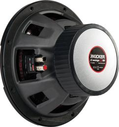 kicker compr 10 dual voice coil 2 ohm subwoofer black 43cwr102 best buy [ 1355 x 1438 Pixel ]