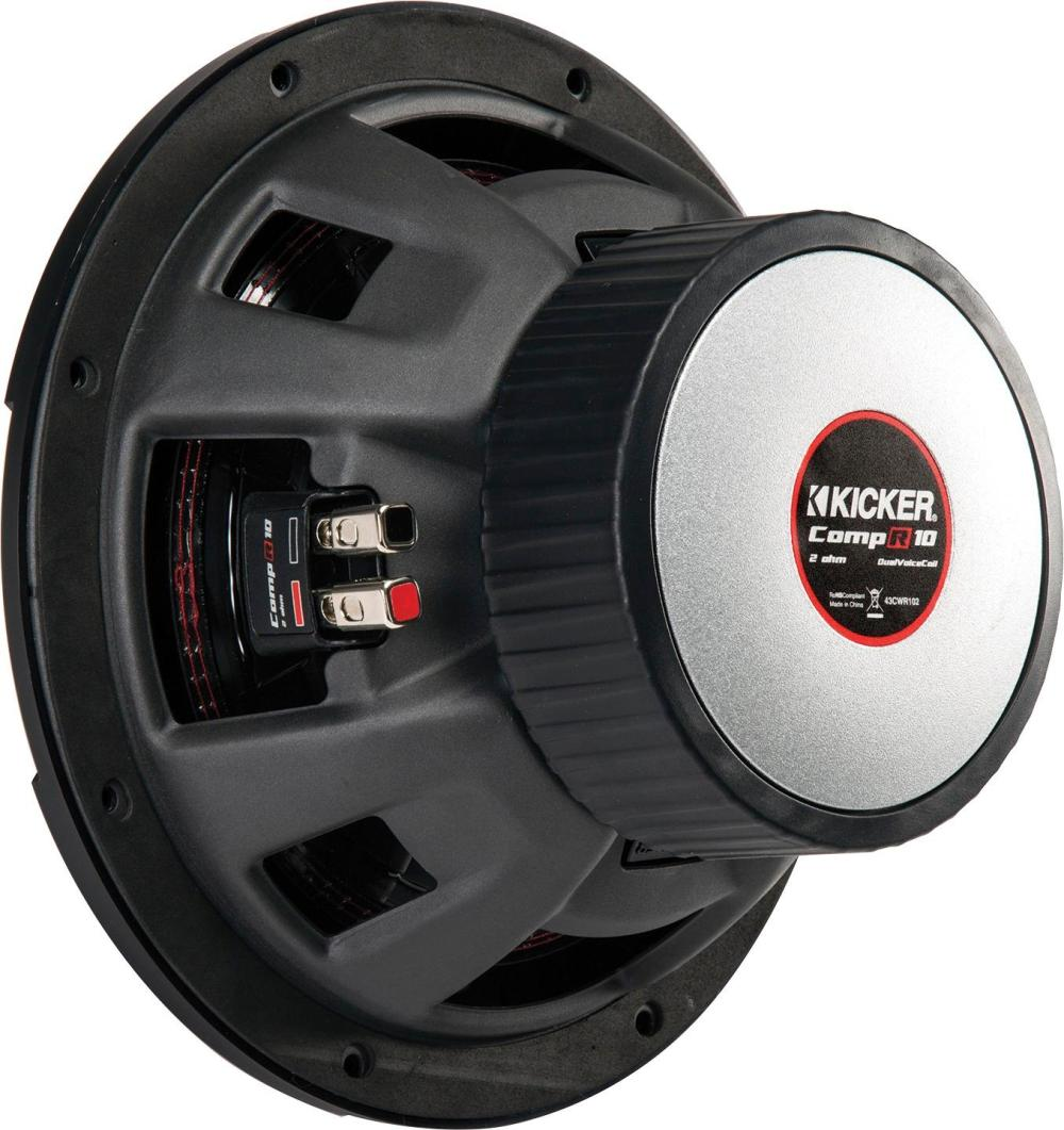 medium resolution of kicker compr 10 dual voice coil 2 ohm subwoofer black 43cwr102 best buy