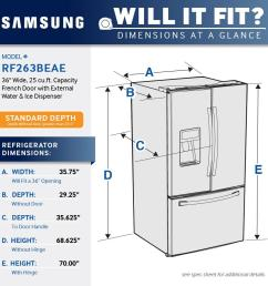 samsung 24 6 cu ft french door refrigerator with thru the door ice and water stainless steel rf263beaesr best buy [ 1000 x 1000 Pixel ]