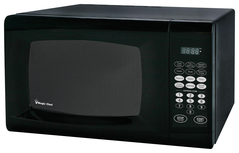 magic chef 0 9 cu ft compact microwave black