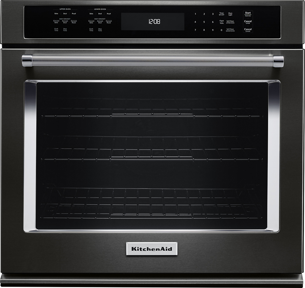 kitchen aid ovens floor mats walmart kitchenaid 30 built in single electric convection wall oven black stainless steel