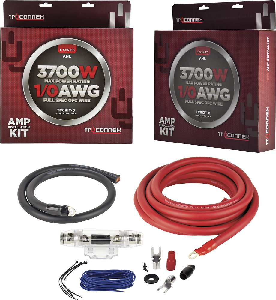 hight resolution of metra truconnex car amplifier installation kit for vehicles black blue red tc6kit 0 best buy