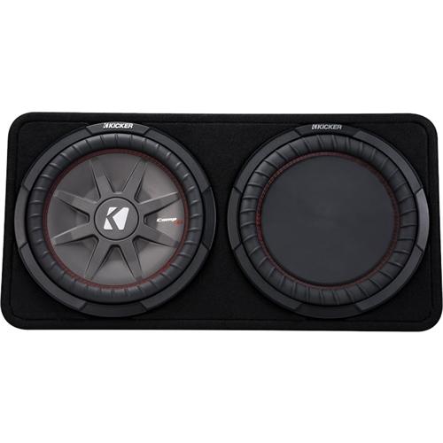 dual voice coil subwoofer box 2000 honda civic si radio wiring diagram kicker comprt 12 4 ohm loaded enclosure