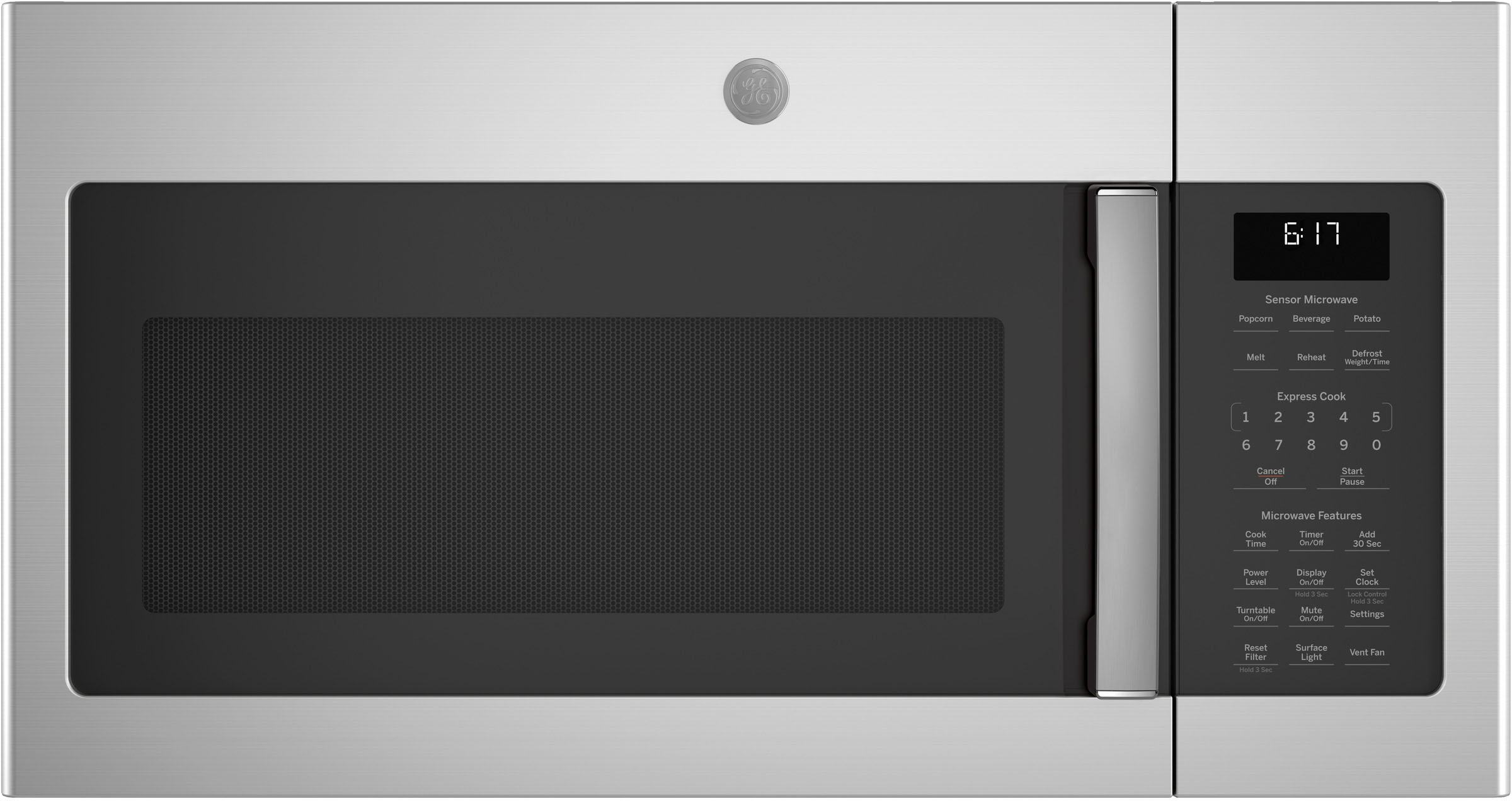 ge 1 7 cu ft over the range microwave stainless steel