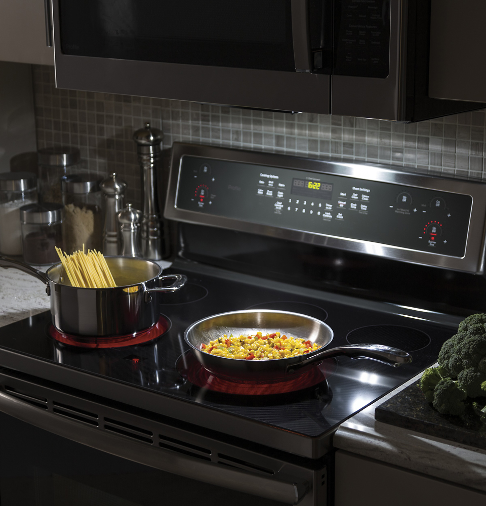 ge profile series 1 7 cu ft over the range microwave with sensor cooking stainless steel