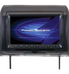 best buy power acoustik hdvd 71cc universal headrest monitor with dvd 7 gray hdvd 71cc [ 1000 x 1000 Pixel ]