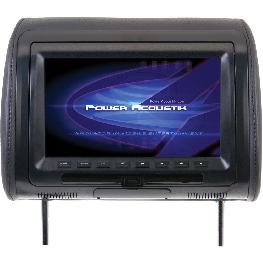 hight resolution of best buy power acoustik hdvd 71cc universal headrest monitor with dvd 7 gray hdvd 71cc