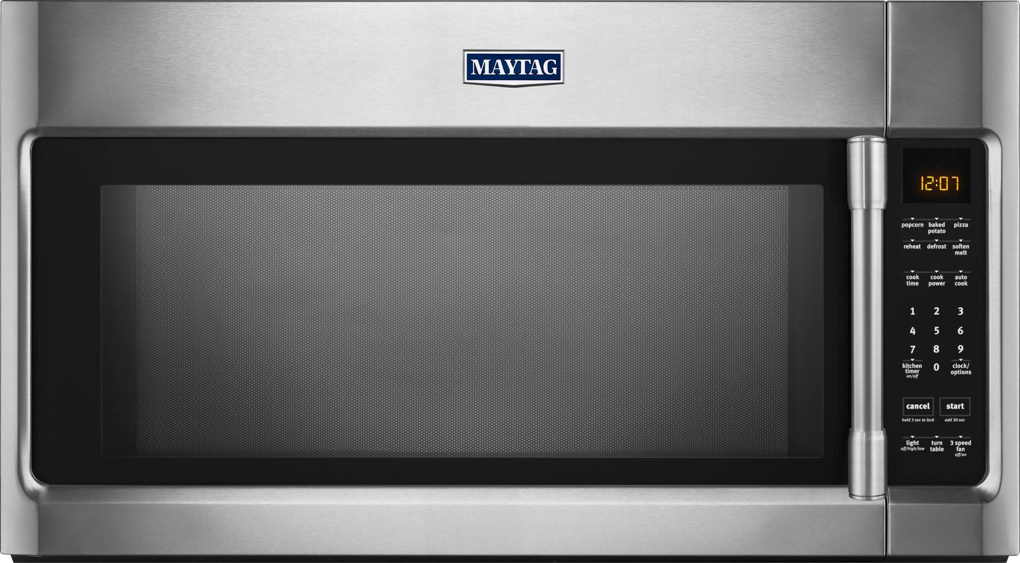 hight resolution of best buy maytag 2 0 cu ft over the range microwave with sensor cooking stainless steel mmv4205fz