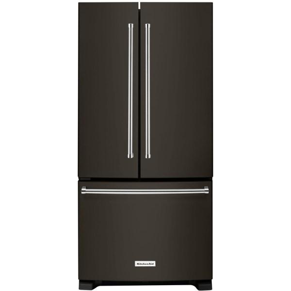Kitchenaid 22.1 Cu. Ft. French Door Refrigerator Black Stainless Steel Krff302ebs