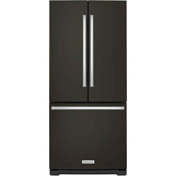 Kitchenaid 20 Cu. Ft. French Door Refrigerator Black Stainless Steel Krff300ebs