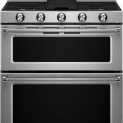 Kitchen Aid Ovens Makeover Sweepstakes Kitchenaid 6 0 Cu Ft Self Cleaning Free Standing Double Oven Gas