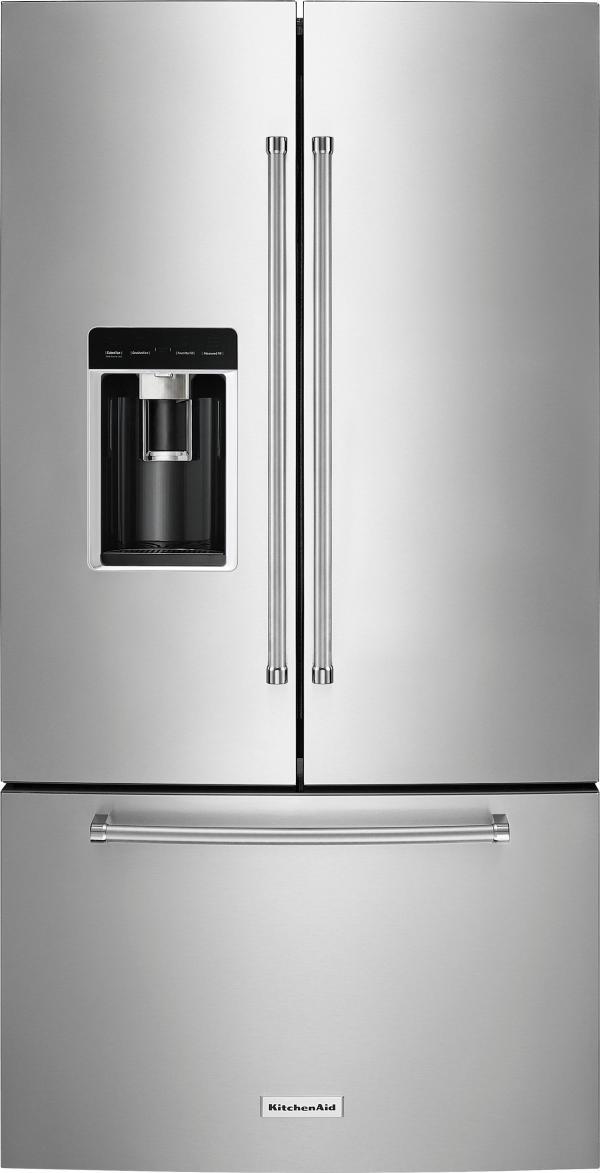 Kitchenaid 23.8 Cu. Ft. French Door Counter-depth Refrigerator Printshield Stainless Krfc704fps