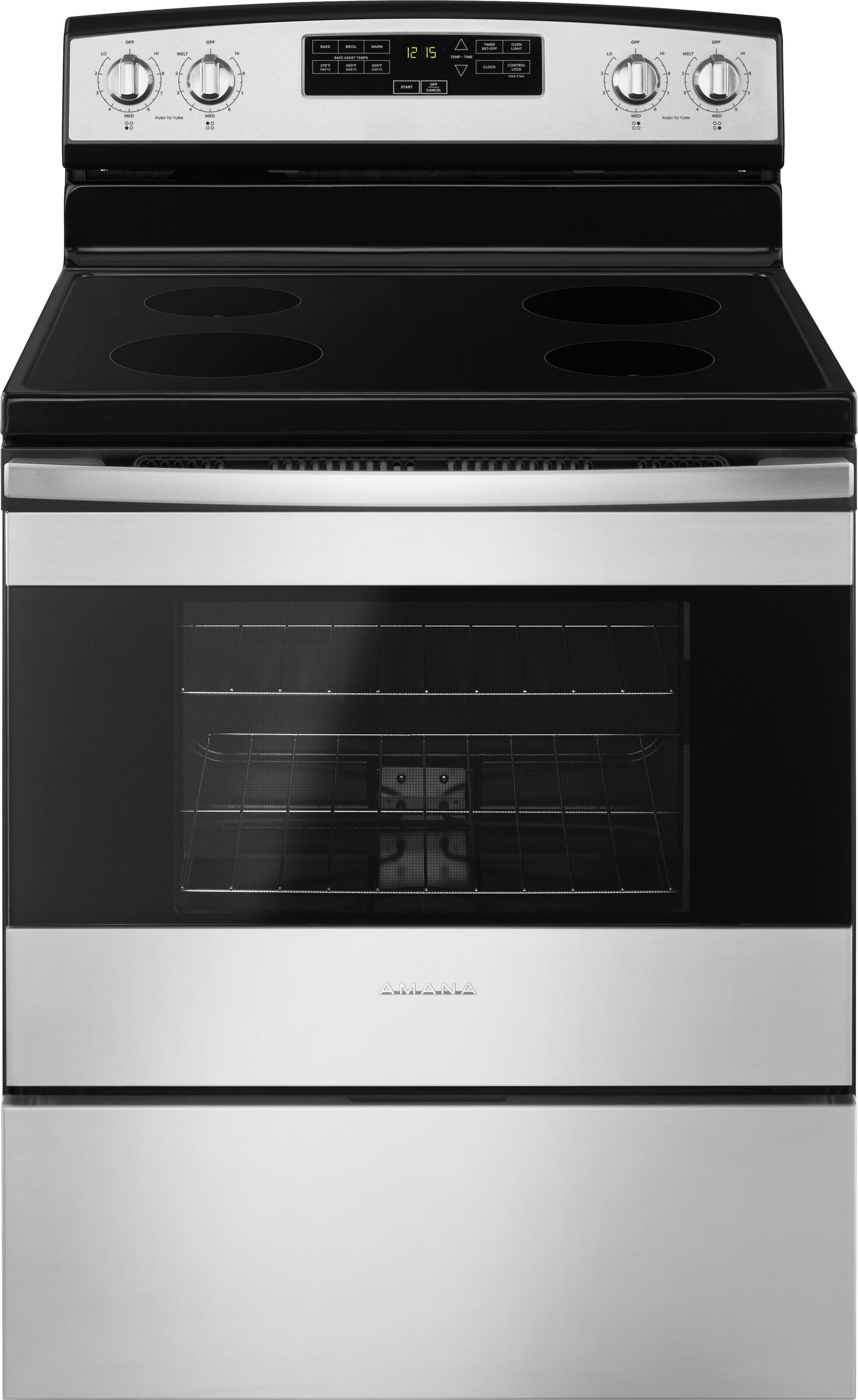 hight resolution of ft freestanding electric range stainless steel aer6303mfs best buy