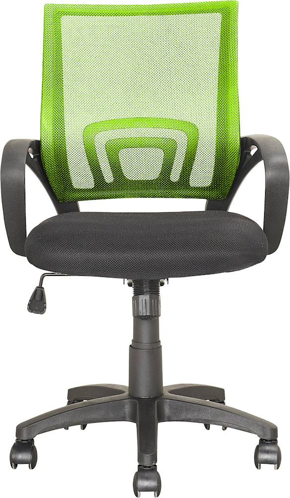 desk chair best buy baby trend high target lime green office chairs corliving workspace 5 pointed star mesh linen fabric black