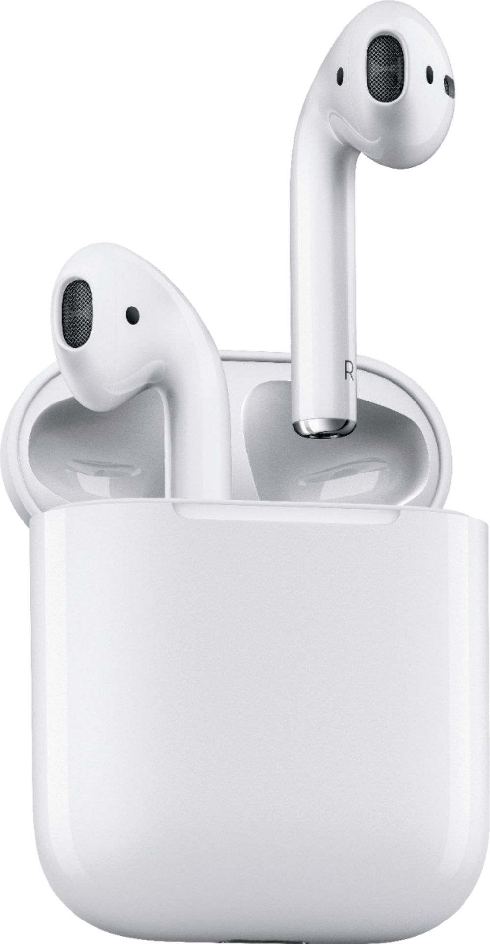 medium resolution of best buy apple airpods with charging case 1st generation white mmef2am a