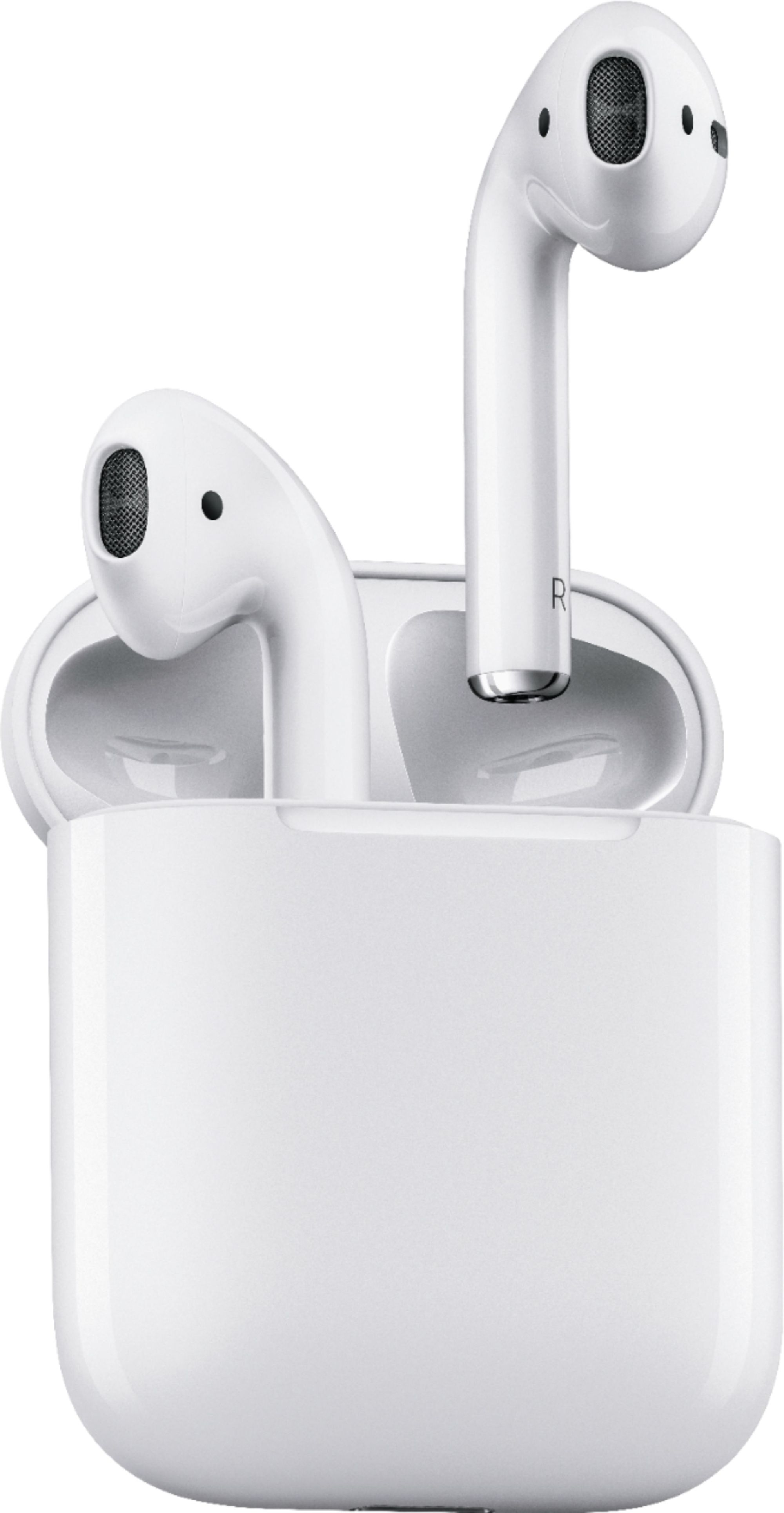 hight resolution of best buy apple airpods with charging case 1st generation white mmef2am a