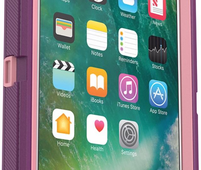 Best Buy Otterbox Defender Series Case For Apple Iphone  Plus Plum Bbr