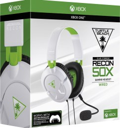 turtle beach ear force recon 50x over the ear wired gaming headset for xbox [ 924 x 1000 Pixel ]