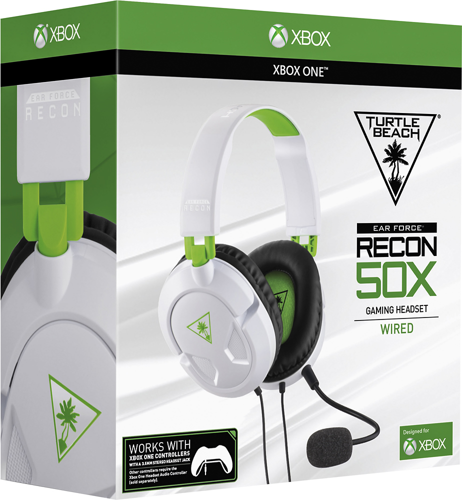 hight resolution of turtle beach ear force recon 50x over the ear wired gaming headset for xbox